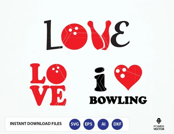 Download Love Bowling Svg. Love Bowling T shirt Design Svg. Love