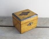Antique wooden money box ...