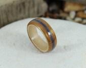 Koa Wood Ring with Maple ...