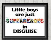 Little Boy Superhero, Kid...