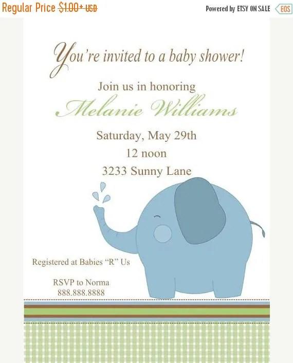 Baby Shower Invitations Sale