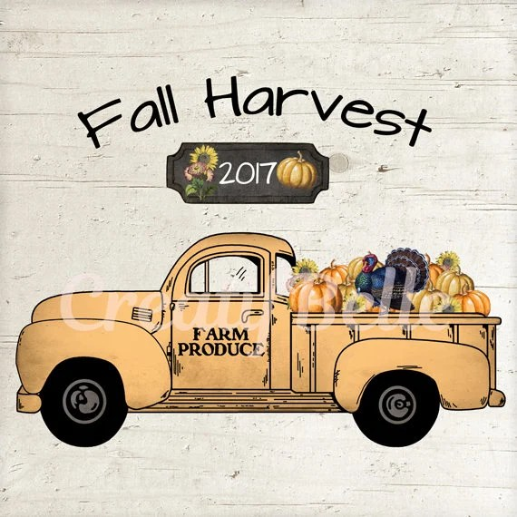 Fall Truck Printable Farm