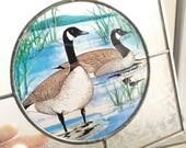 Canada Goose leaded glass...