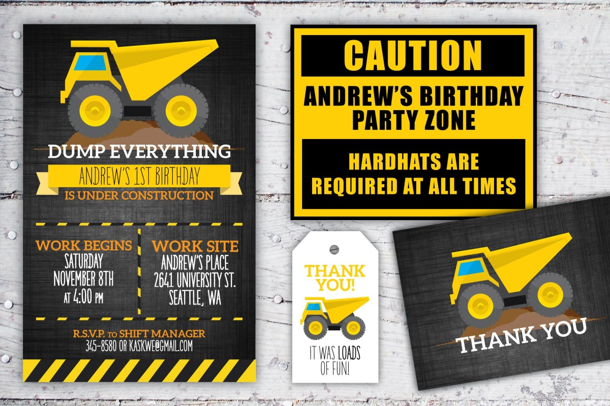 Construction Birthday Pri...