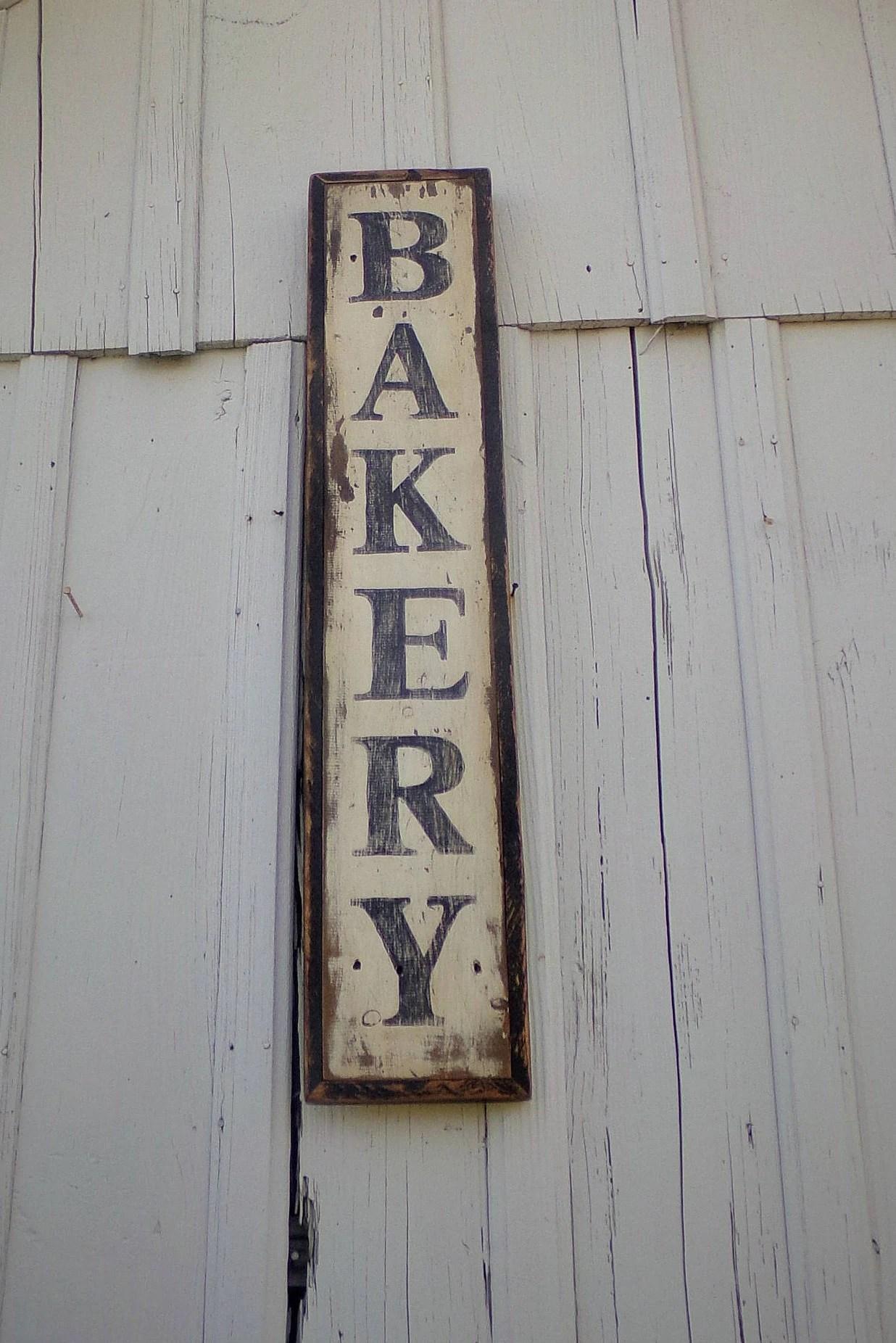 Large Farmhouse Style Bakery Sign