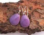 Purple Earrings, Handmade...