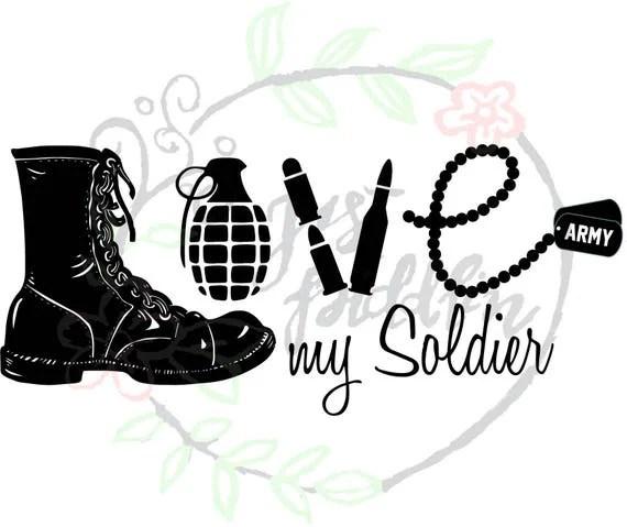 Download love my soldier svg