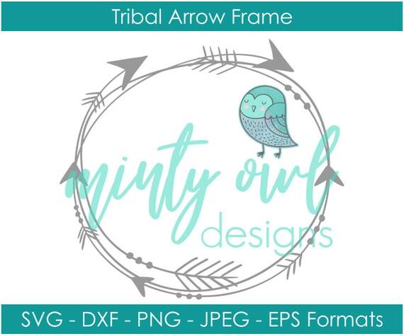 Tribal Monogram Arrow Circle