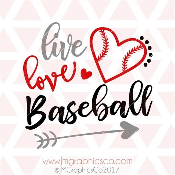 Download Live Love Baseball svg dxf png cricut cameo cut file