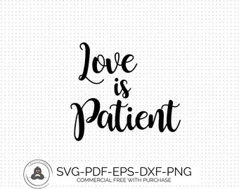 Download Love is patient file | Etsy