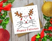 Christmas Cat Card: funny...