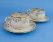 Antique blue teacups, Hav...