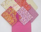 Pink and Tangerine Fabric...