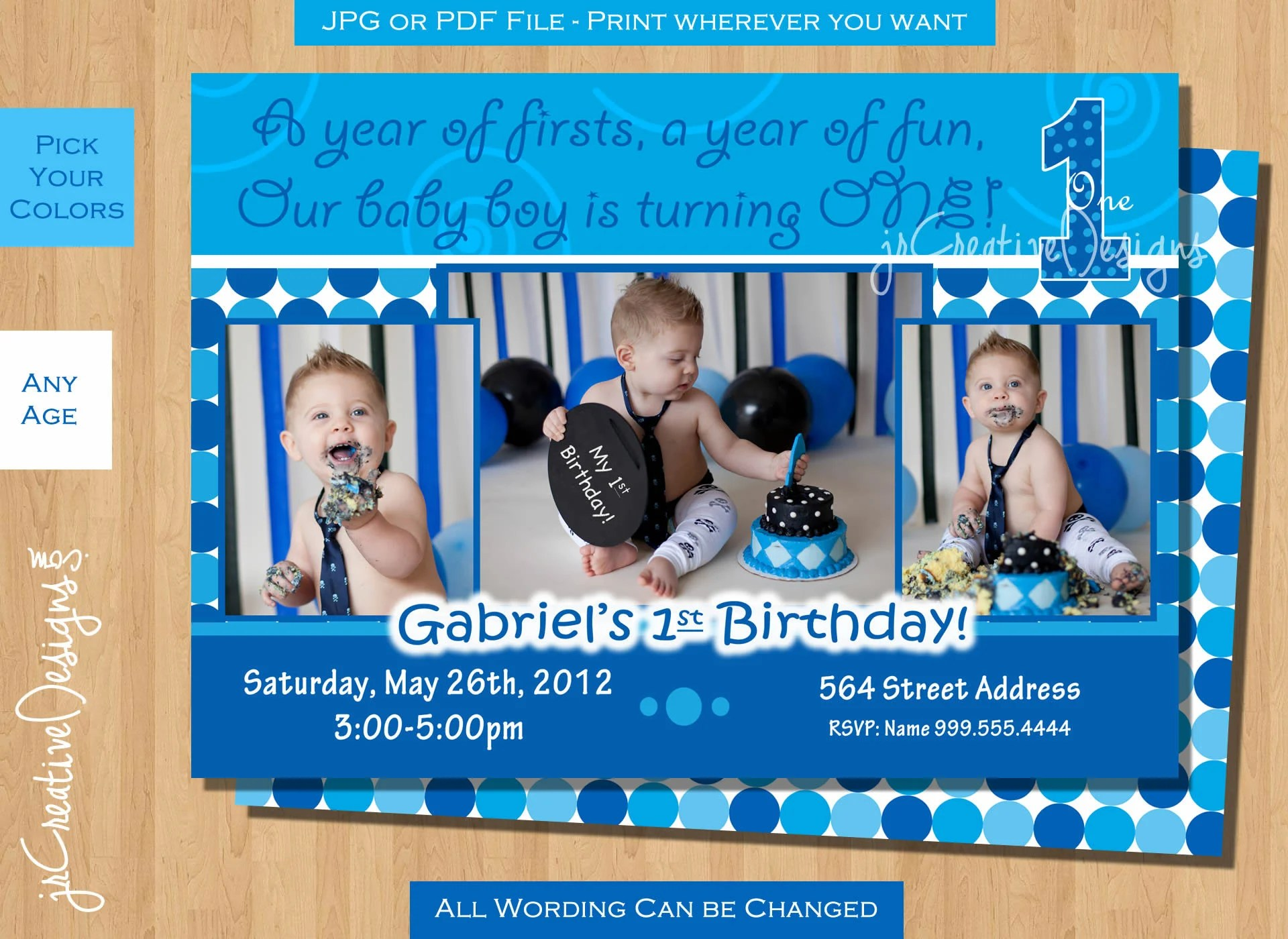 Birthday Invitation Cards Party First
