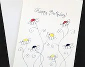 Happy Birthday card, wate...
