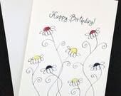 Happy Birthday card, wate...
