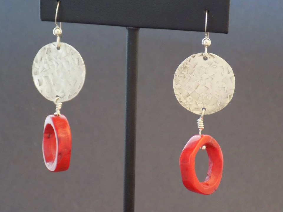 Sterling Silver and Red C...