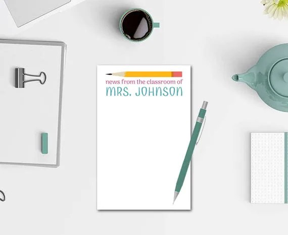 News from the Classroom - Personalized Notepad
