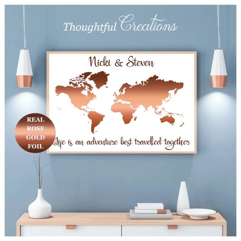 World Map Print, Personal...