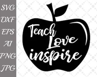Download Teach love inspire   Etsy