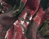 Cut Velvet and Silk Patch...
