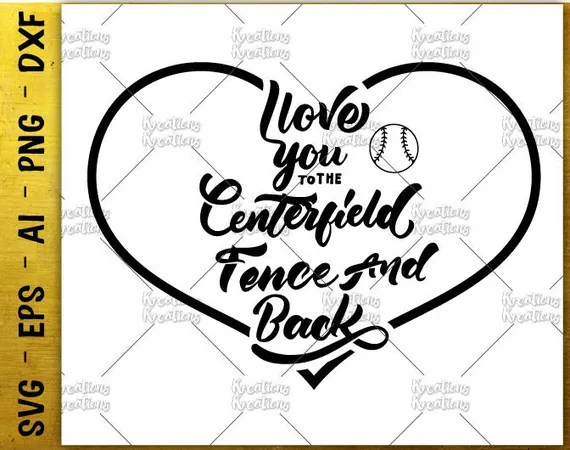 Download Hand Drawn svg hand lettered svg i love you to the centerfield