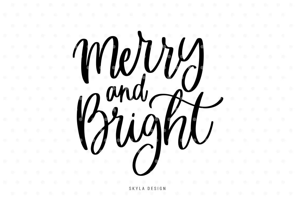 Merry And Bright Svg Merry Christmas Svg Christmas Svg File