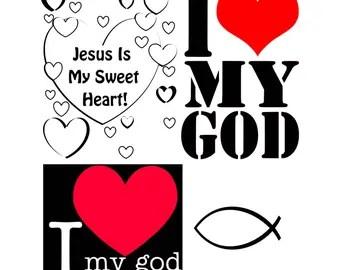 Download I love god | Etsy