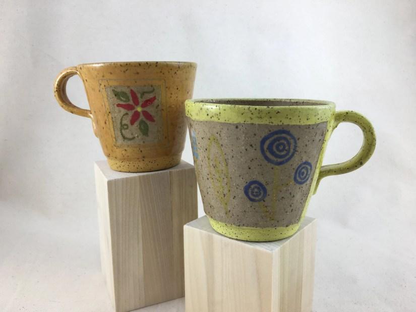 Yellow Floral Ceramic Mug...