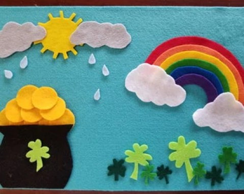 St. Patrick's Day Felt Board Fun