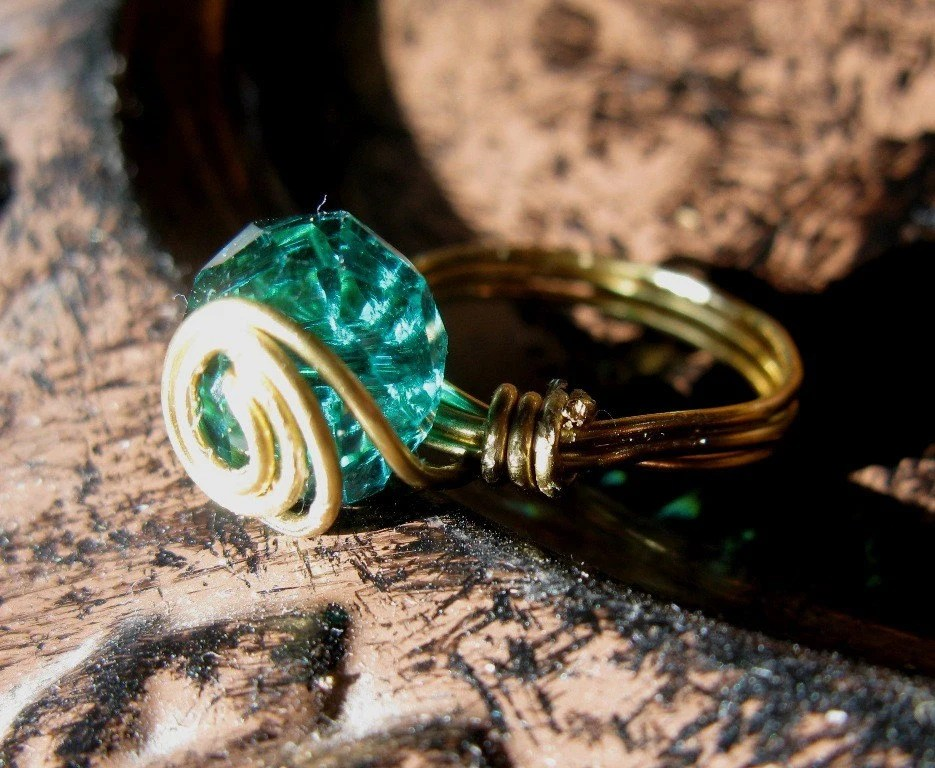Emerald Rose Brass Ring