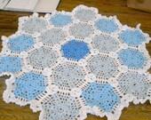 New handmade Hexigan Granny design multi colour Crochet Blanket 666