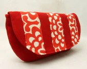 Clutch Handbag in Red Wallflower by Julie Meyer Etsy