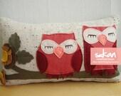 Sukan /  Owls Pillow Cover - 12x20