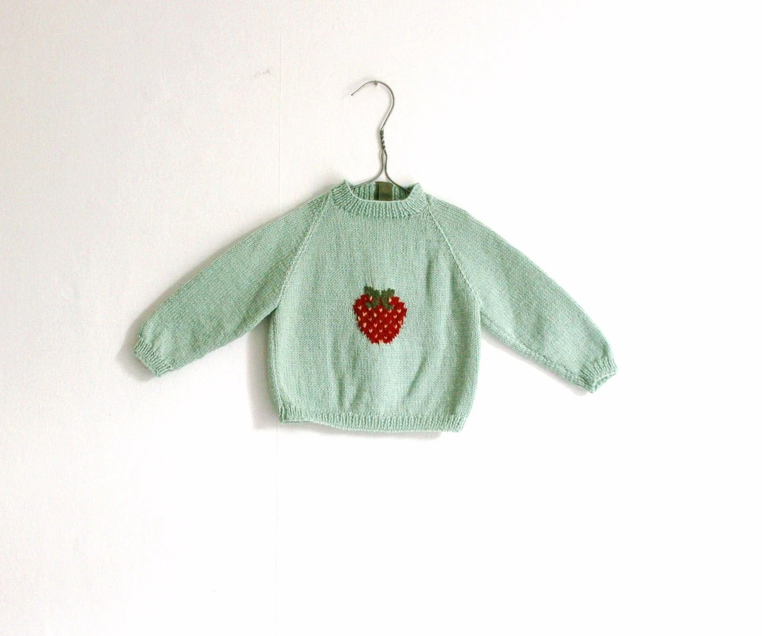 Sweater Mint with Strawberry (baby)
