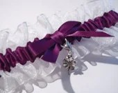 Dark Purple Lucky Charm Garter