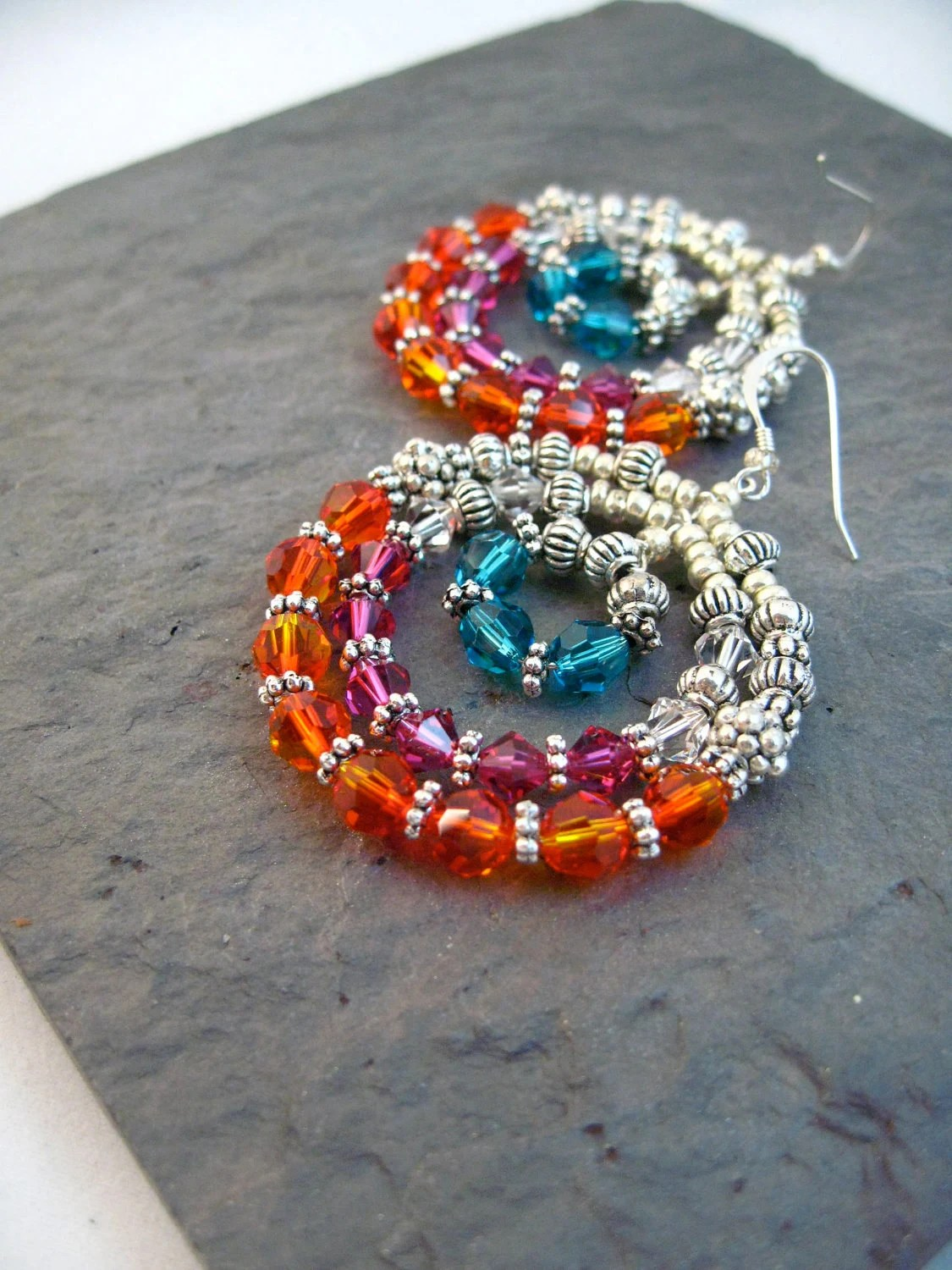 Southern Earring Collection --Fire Blue