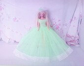 BARBIE CLOTHES Handmade Royal Wedding inspired  dress- barbie doll (nannycheryl original)  892  x 85