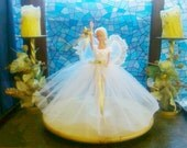 New handmade BARBIE Clothes CHRISTMAS FAIRY Doll dress,petticoat,wings,star (nannycheryl original)    903  x  92