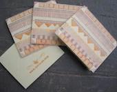 Letterpress Pattern Card - justajar
