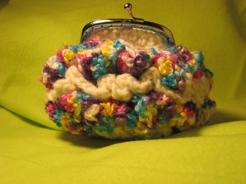 Coin Purse Crochet Ruffles