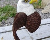 Handcarved bald eagle