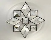 Star  Snowflake Beveled Stained Glass Suncatcher Bevels (9bv)  Handmade OOAK 247