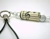 Music Soothes the Soul Cell Phone Charm or Zipper Pull