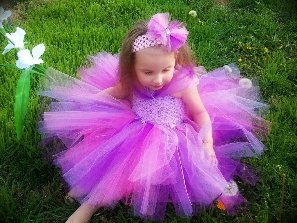 Princess Rapunzel Inspired Birthday Tutu Dress