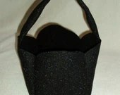 Black Fabric Basket - BrennysBibbies