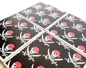 Black Pirate Coasters Swords Skull Men Ceramic Tile Drink - QueenOfDeTile