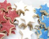 Mini Sugar Cookies RED, WHITE, and BLUE - miniMEbakery