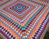Springtime Picnic Granny Square Blanket Afghan - Thesunroomuk