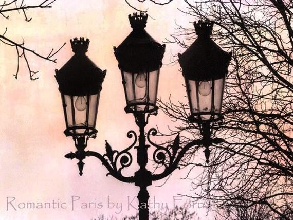 """Paris Photography - Paris Romantic Street Lamps Left Bank Artist District Fine Art Photograph 8"""" x 12"""""""